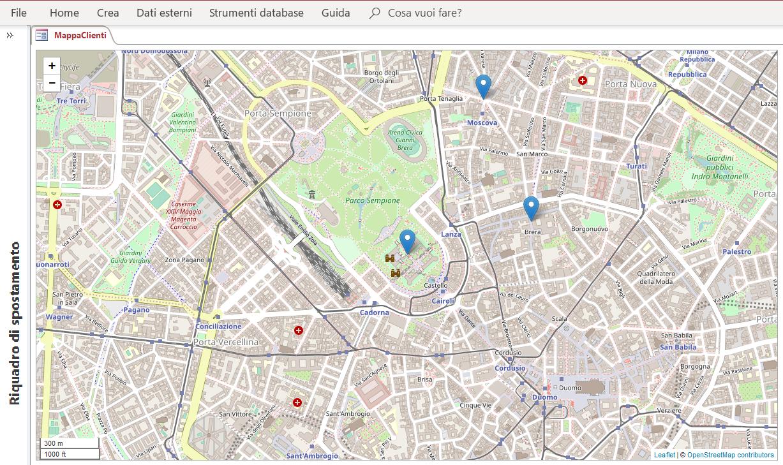 Microsoft Access OpenStreetMap